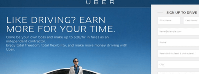 A Look at Uber's Landing Page Testing from 2015